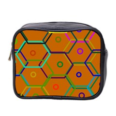 Color Bee Hive Color Bee Hive Pattern Mini Toiletries Bag 2 Side