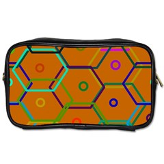 Color Bee Hive Color Bee Hive Pattern Toiletries Bags 2 Side