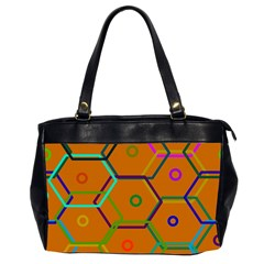 Color Bee Hive Color Bee Hive Pattern Office Handbags (2 Sides)