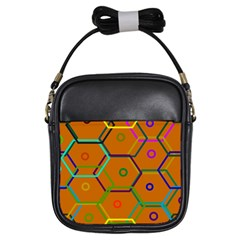 Color Bee Hive Color Bee Hive Pattern Girls Sling Bags