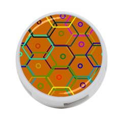 Color Bee Hive Color Bee Hive Pattern 4-Port USB Hub (Two Sides)