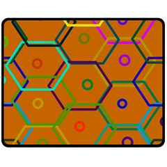 Color Bee Hive Color Bee Hive Pattern Fleece Blanket (Medium)