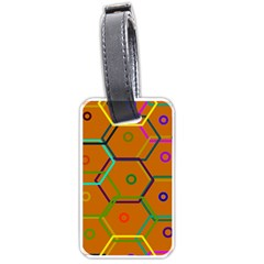Color Bee Hive Color Bee Hive Pattern Luggage Tags (two Sides)
