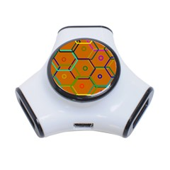 Color Bee Hive Color Bee Hive Pattern 3 Port Usb Hub