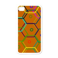 Color Bee Hive Color Bee Hive Pattern Apple Iphone 4 Case (white)