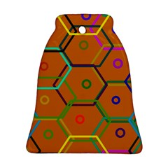 Color Bee Hive Color Bee Hive Pattern Ornament (Bell)