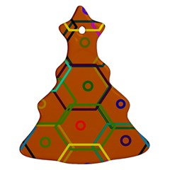 Color Bee Hive Color Bee Hive Pattern Christmas Tree Ornament (Two Sides)