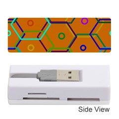 Color Bee Hive Color Bee Hive Pattern Memory Card Reader (Stick)
