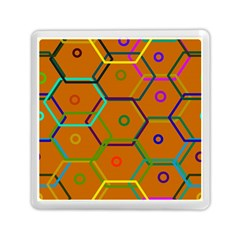 Color Bee Hive Color Bee Hive Pattern Memory Card Reader (Square)