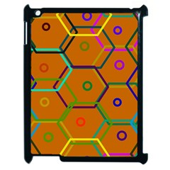 Color Bee Hive Color Bee Hive Pattern Apple iPad 2 Case (Black)