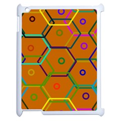 Color Bee Hive Color Bee Hive Pattern Apple iPad 2 Case (White)
