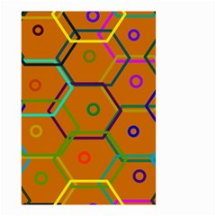 Color Bee Hive Color Bee Hive Pattern Small Garden Flag (two Sides)