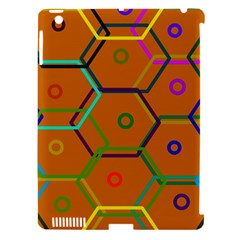 Color Bee Hive Color Bee Hive Pattern Apple iPad 3/4 Hardshell Case (Compatible with Smart Cover)
