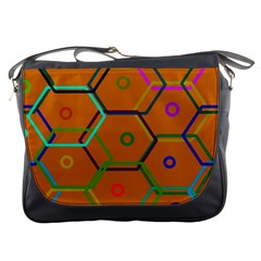 Color Bee Hive Color Bee Hive Pattern Messenger Bags