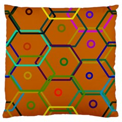 Color Bee Hive Color Bee Hive Pattern Large Cushion Case (Two Sides)