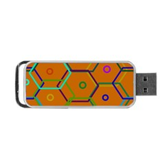 Color Bee Hive Color Bee Hive Pattern Portable USB Flash (One Side)