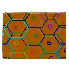 Color Bee Hive Color Bee Hive Pattern Cosmetic Bag (xxl)