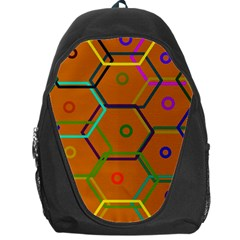 Color Bee Hive Color Bee Hive Pattern Backpack Bag