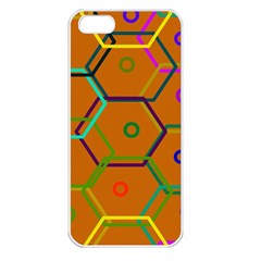 Color Bee Hive Color Bee Hive Pattern Apple Iphone 5 Seamless Case (white)