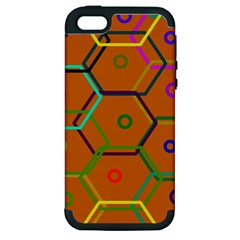 Color Bee Hive Color Bee Hive Pattern Apple Iphone 5 Hardshell Case (pc+silicone)