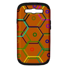 Color Bee Hive Color Bee Hive Pattern Samsung Galaxy S III Hardshell Case (PC+Silicone)