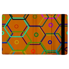 Color Bee Hive Color Bee Hive Pattern Apple iPad 3/4 Flip Case