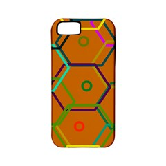 Color Bee Hive Color Bee Hive Pattern Apple Iphone 5 Classic Hardshell Case (pc+silicone)