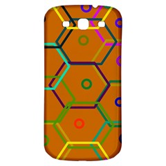 Color Bee Hive Color Bee Hive Pattern Samsung Galaxy S3 S III Classic Hardshell Back Case