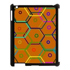 Color Bee Hive Color Bee Hive Pattern Apple Ipad 3/4 Case (black)