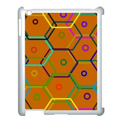 Color Bee Hive Color Bee Hive Pattern Apple iPad 3/4 Case (White)