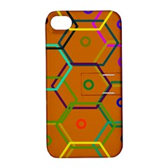 Color Bee Hive Color Bee Hive Pattern Apple iPhone 4/4S Hardshell Case with Stand