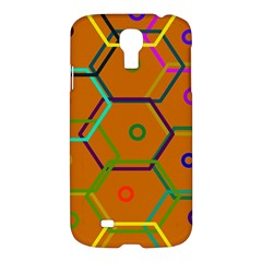 Color Bee Hive Color Bee Hive Pattern Samsung Galaxy S4 I9500/I9505 Hardshell Case