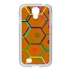 Color Bee Hive Color Bee Hive Pattern Samsung Galaxy S4 I9500/ I9505 Case (white)