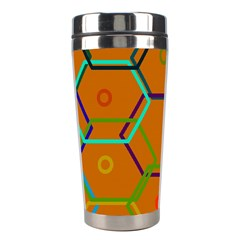 Color Bee Hive Color Bee Hive Pattern Stainless Steel Travel Tumblers