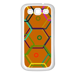 Color Bee Hive Color Bee Hive Pattern Samsung Galaxy S3 Back Case (white)