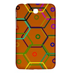 Color Bee Hive Color Bee Hive Pattern Samsung Galaxy Tab 3 (7 ) P3200 Hardshell Case