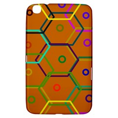 Color Bee Hive Color Bee Hive Pattern Samsung Galaxy Tab 3 (8 ) T3100 Hardshell Case