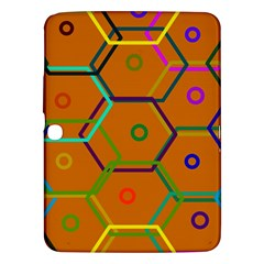 Color Bee Hive Color Bee Hive Pattern Samsung Galaxy Tab 3 (10 1 ) P5200 Hardshell Case