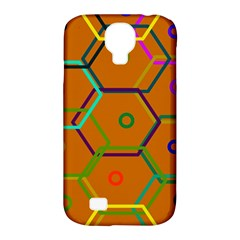 Color Bee Hive Color Bee Hive Pattern Samsung Galaxy S4 Classic Hardshell Case (PC+Silicone)