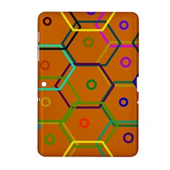 Color Bee Hive Color Bee Hive Pattern Samsung Galaxy Tab 2 (10.1 ) P5100 Hardshell Case