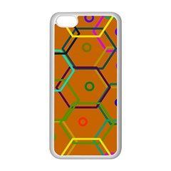 Color Bee Hive Color Bee Hive Pattern Apple Iphone 5c Seamless Case (white)