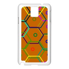 Color Bee Hive Color Bee Hive Pattern Samsung Galaxy Note 3 N9005 Case (White)