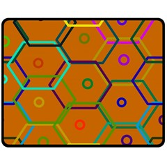 Color Bee Hive Color Bee Hive Pattern Double Sided Fleece Blanket (Medium)