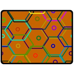 Color Bee Hive Color Bee Hive Pattern Double Sided Fleece Blanket (large)