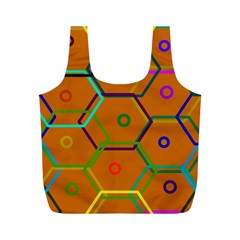 Color Bee Hive Color Bee Hive Pattern Full Print Recycle Bags (M)