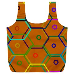 Color Bee Hive Color Bee Hive Pattern Full Print Recycle Bags (l)