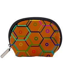 Color Bee Hive Color Bee Hive Pattern Accessory Pouches (small)