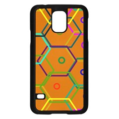 Color Bee Hive Color Bee Hive Pattern Samsung Galaxy S5 Case (Black)