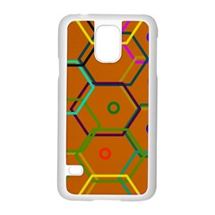 Color Bee Hive Color Bee Hive Pattern Samsung Galaxy S5 Case (white)