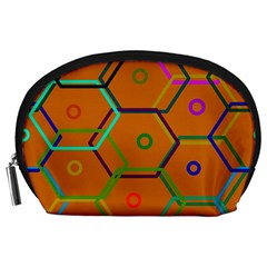 Color Bee Hive Color Bee Hive Pattern Accessory Pouches (large)
